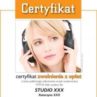 Kolorowy certyfikat imienny - format A4