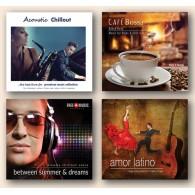 Muzyka do salonu fryzjerskiego CS1 Chill & Latino (RFM) 4 płyty CD