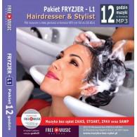 Muzyka dla fryzjera PAKIET L1 - Muzyka MP3 bez opłat Zaiks do salonu fryzjerskiego